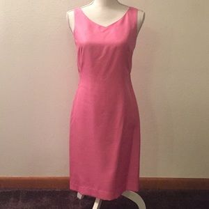 Pink Dress with silk lining.